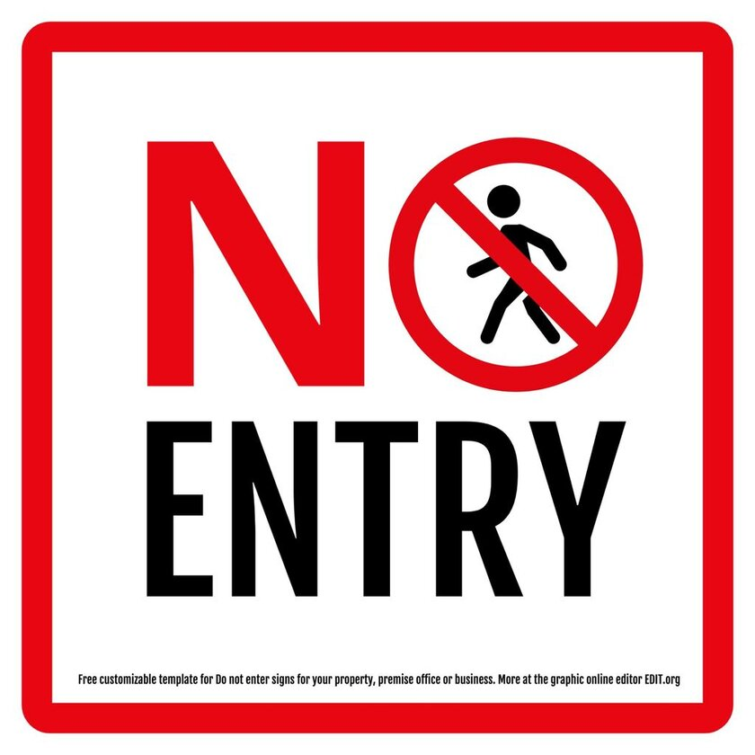 Do not enter sign template to edit online