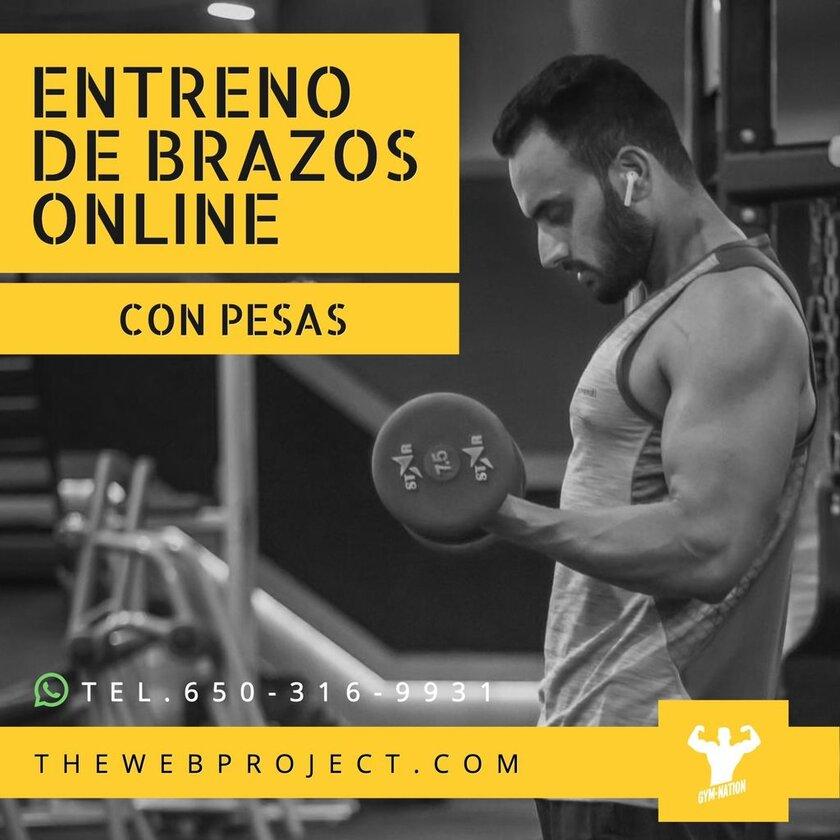 plantilla instagram sesión fitness workout pesas