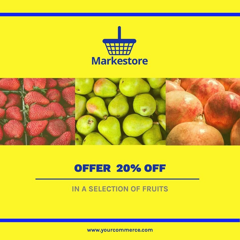 Editable image for offers and discounts for fruit shops