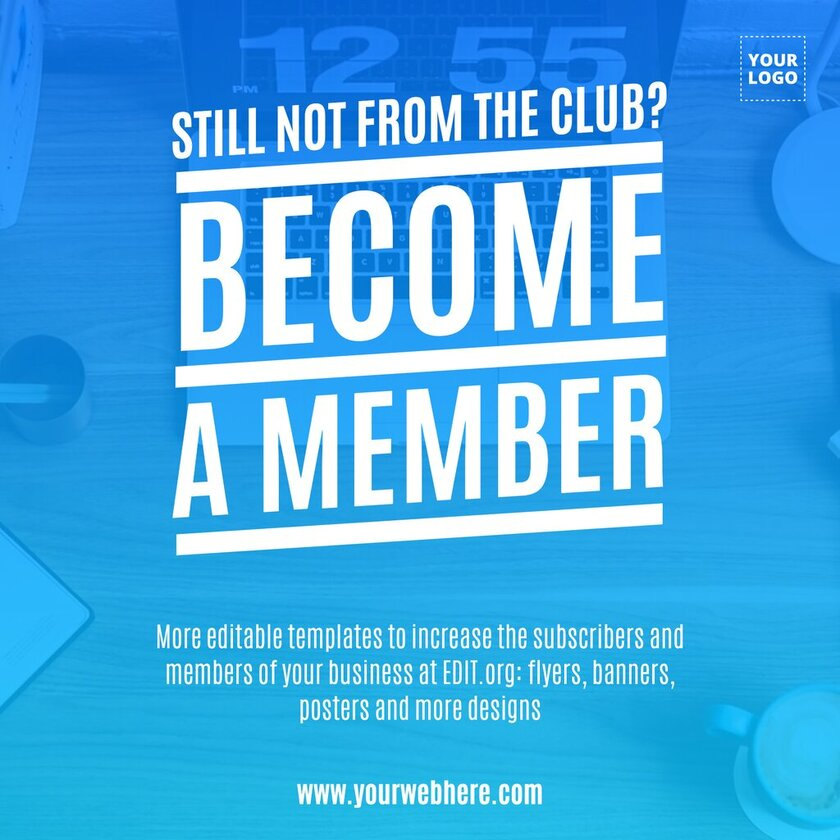 Membership promotion template for your business