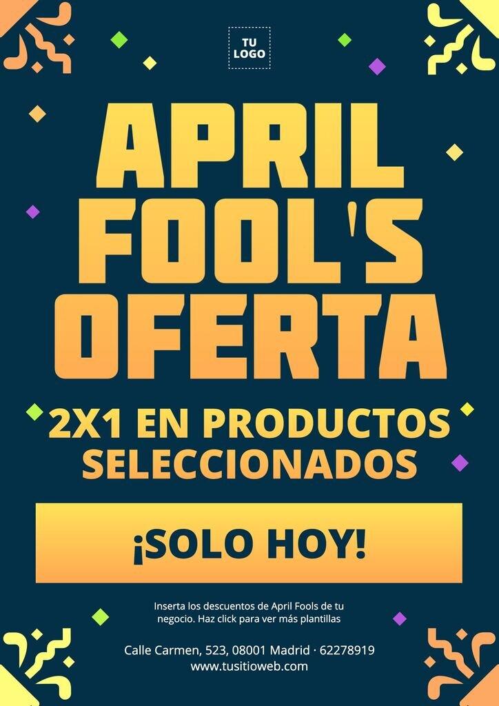 Plantillas editables para las ofertas de April Fools