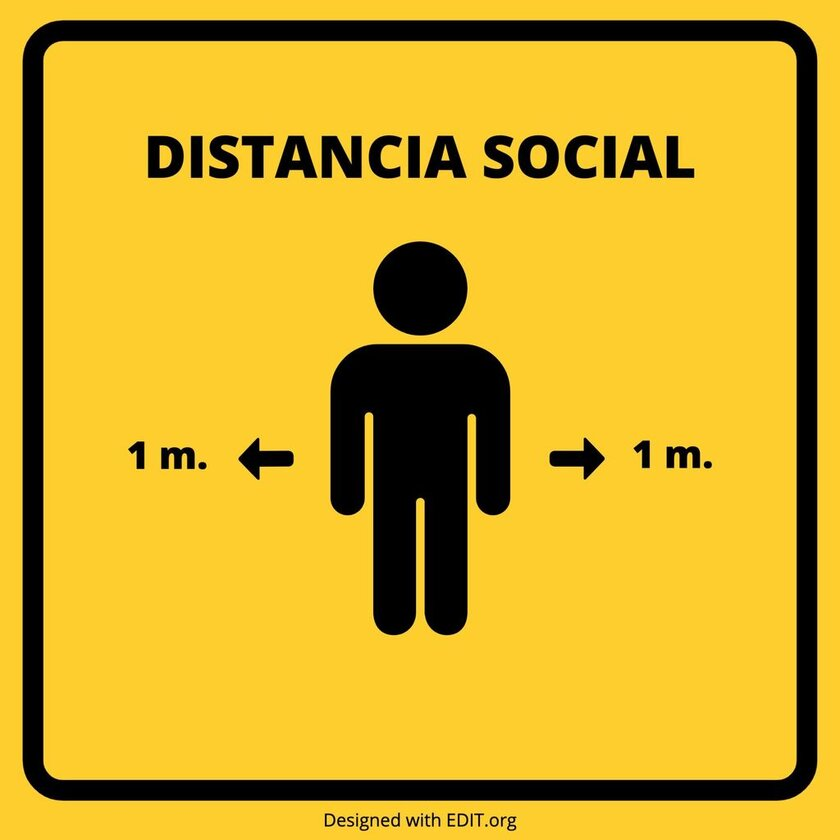 plantilla distancia social coronavirus 2 metros