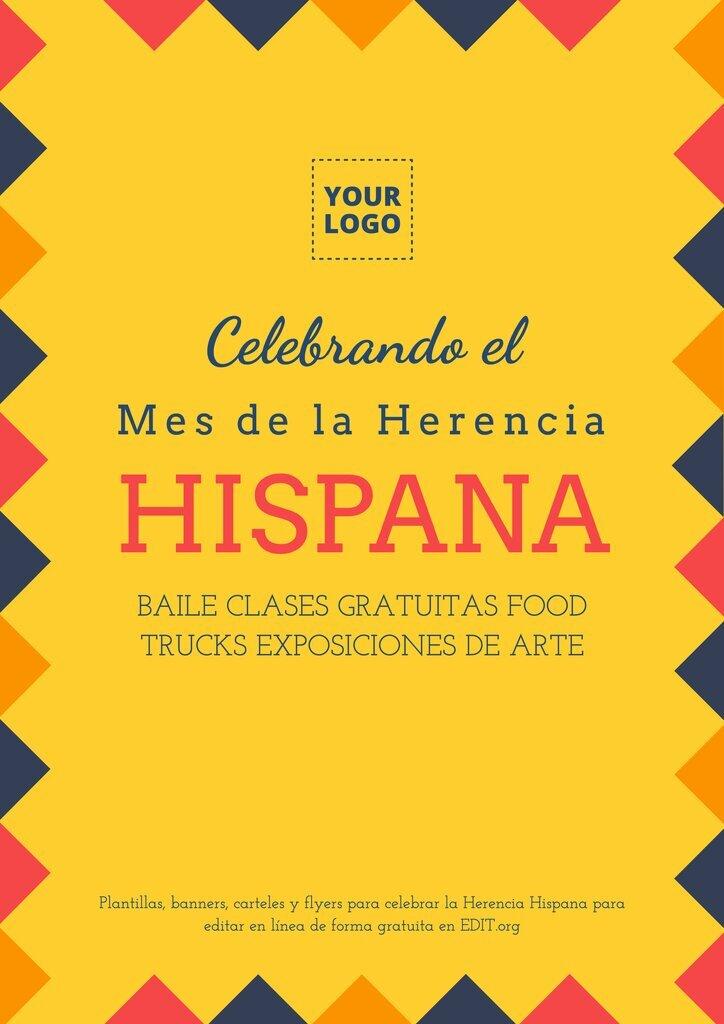 Plantilla de diseño de cartel personalizable online para el Mes de la Herencia Hispana