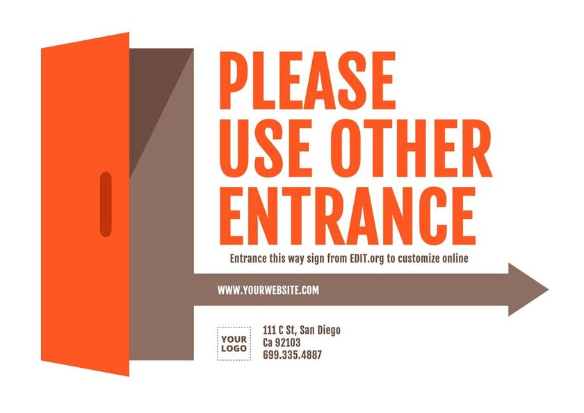 Printable entry and exit sign template to customize