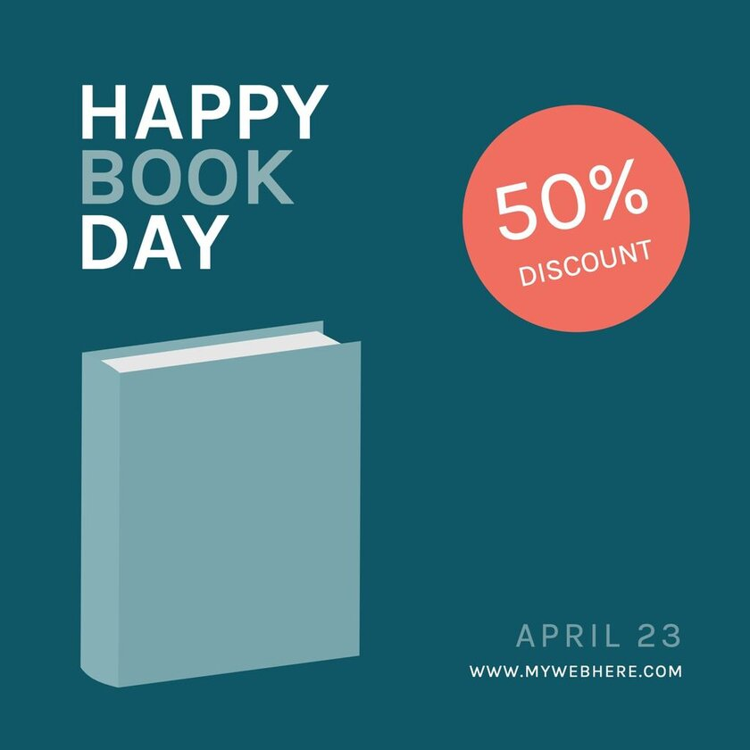 Editable blue banner for Book Day