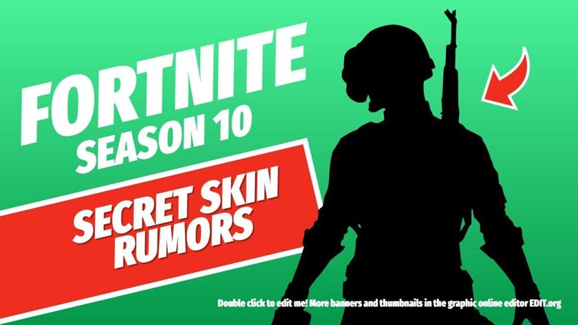 Editable Fortnite free template for thumbnails and banners