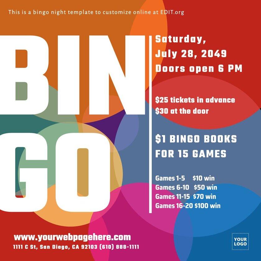 Custom bingo event banner