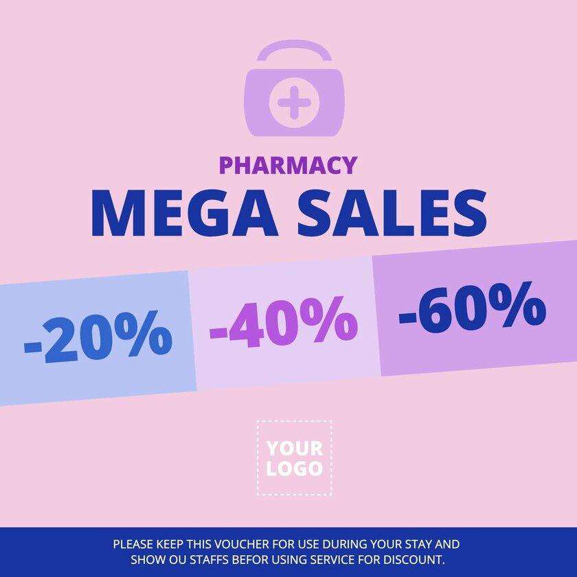 Editable template for pharmacy sales