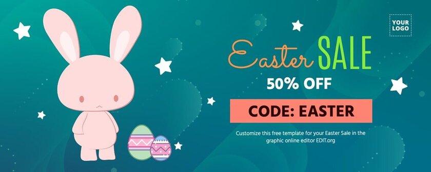 Easter voucher design template to edit online