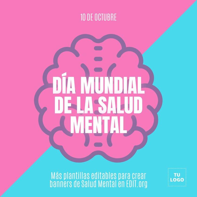 Carteles editables de salud mental para concienciar 10 octubre