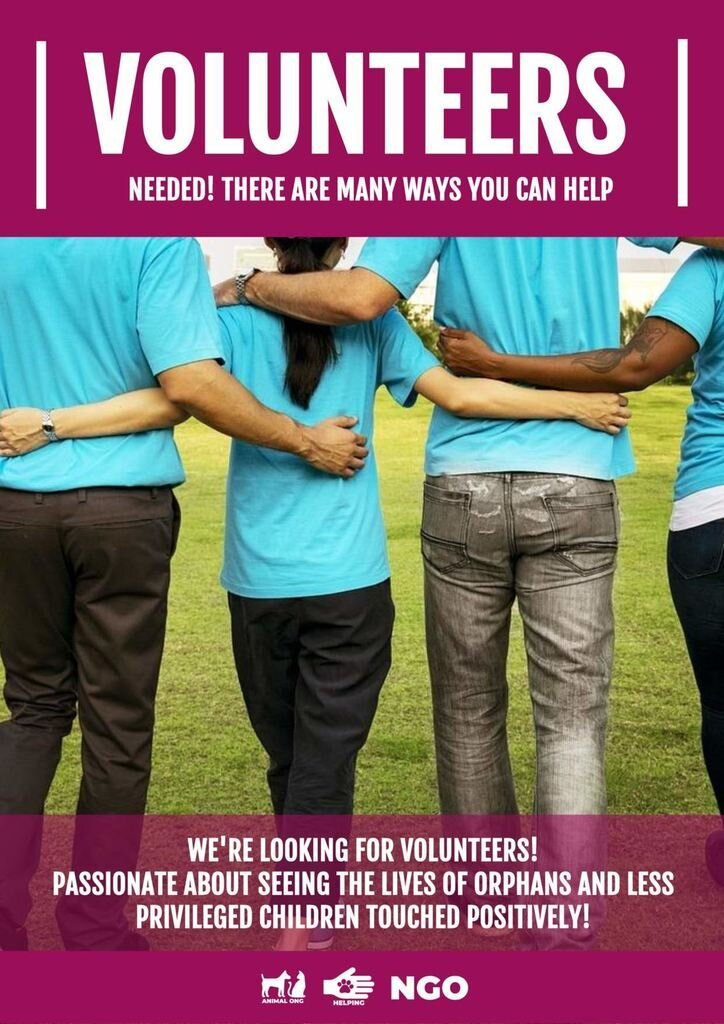 volunteers wanted templates to make online
