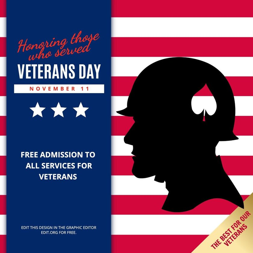 Veterans Day offer template to edit