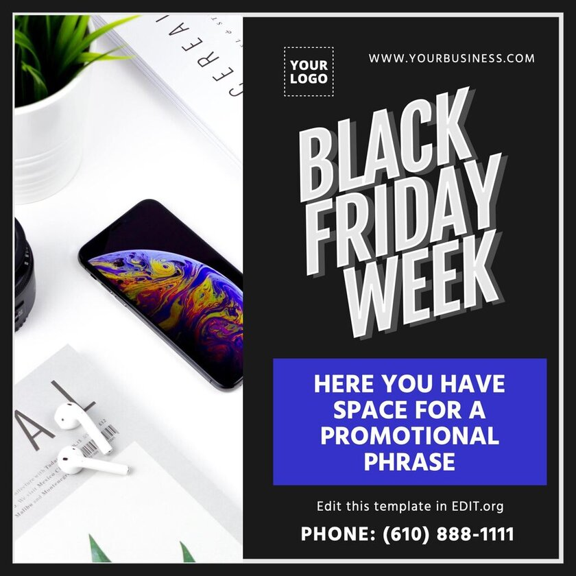 Black Friday Week template to custom online for free