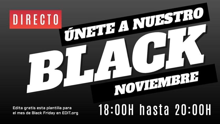 Mes Black Friday. Cartel y banner editable online gratis