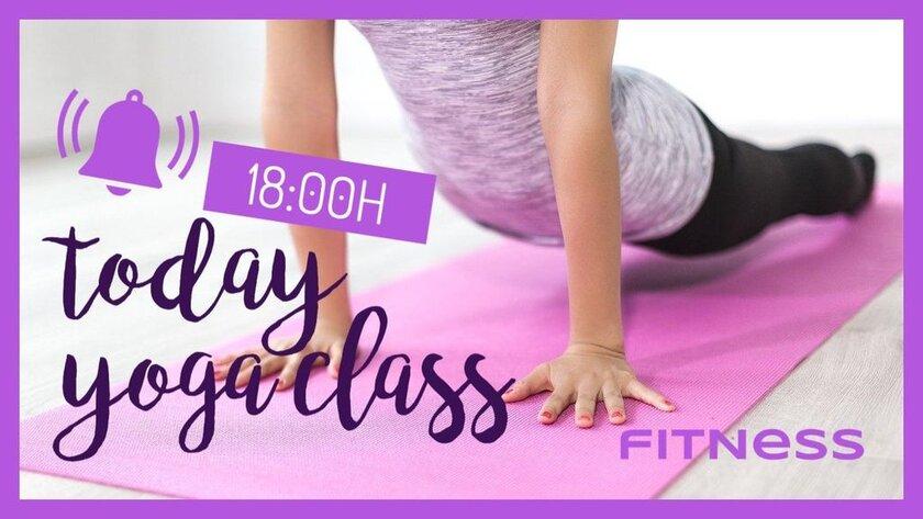 yoga class reminder banner template