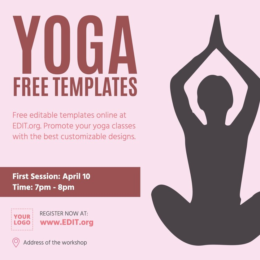 Yoga free templates to custom online for free