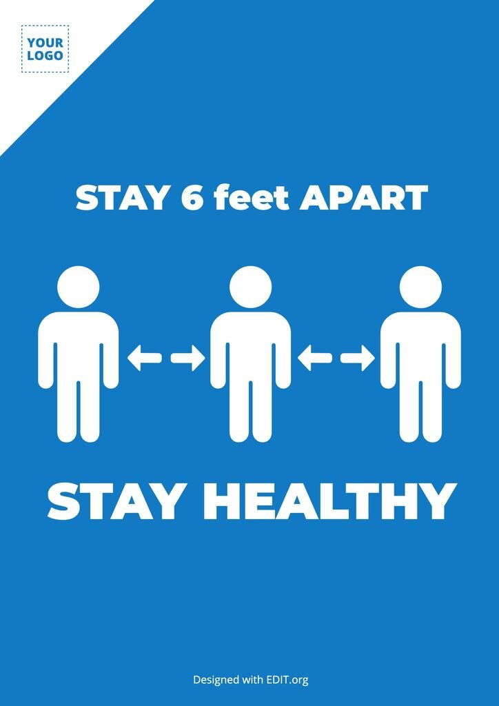 Stay apart social distance free template