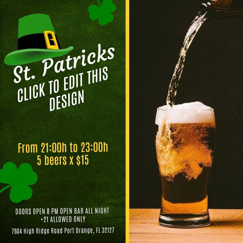 Saint Patricks template promotion bar