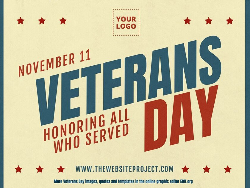 Veterans Day customizable and printable template