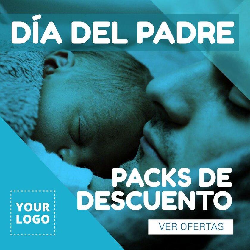 Packs con descuentos dia del padre foto padre bebé
