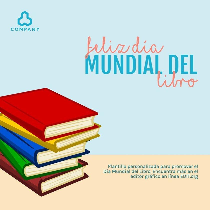 Plantilla editable para celebrar el Día Mundial del Libro