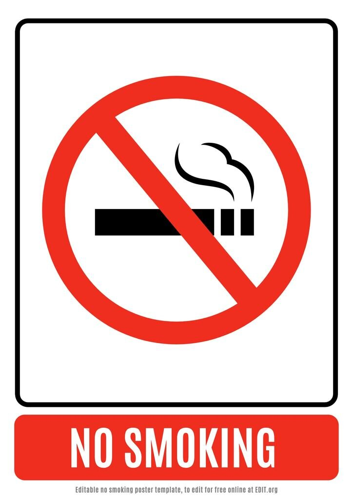 No smoking free custom template to edit online for free