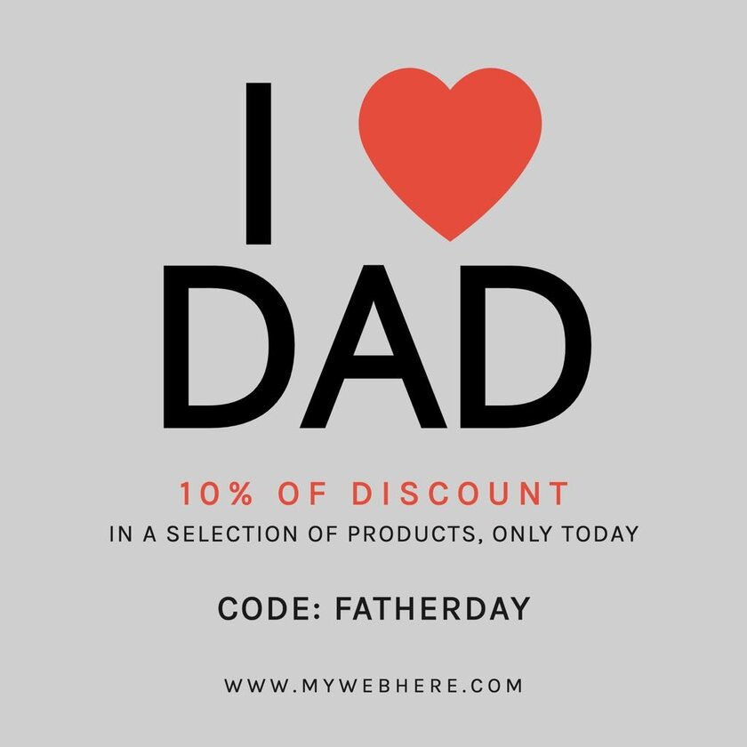 Happy fathers day I love dad discount