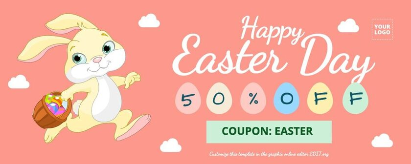 Editable easter template for promotions, sales, discounts