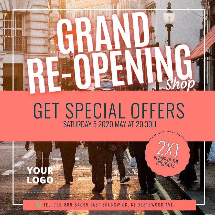 grand reopening template shop