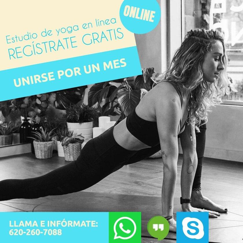 plantilla instagram clase yoga online