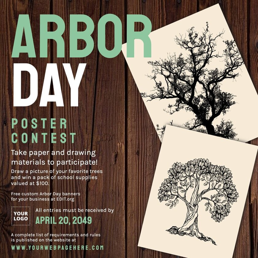 Customizable Arbor Day poster for contests