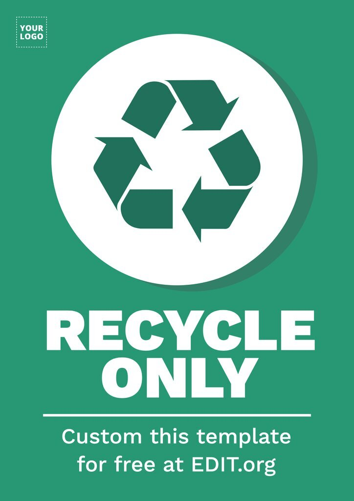 Recycling poster to edit online for free