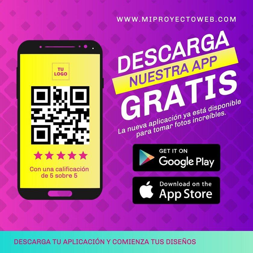 Plantilla editable descarga nuestra app gratis