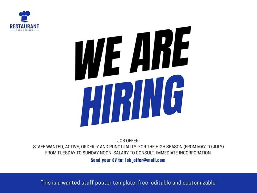 We are hiring custom sign for free