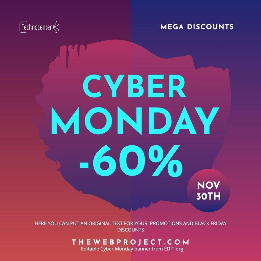 Custom Cyber Monday banner