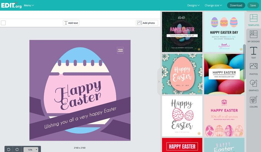 Graphic design posters to promote easter sales and discounts