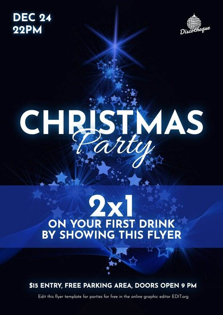 Christmas party flyer template to edit for free
