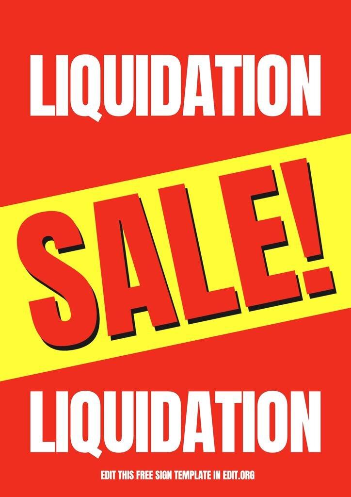 Custom this liquidation sale printable sign for free