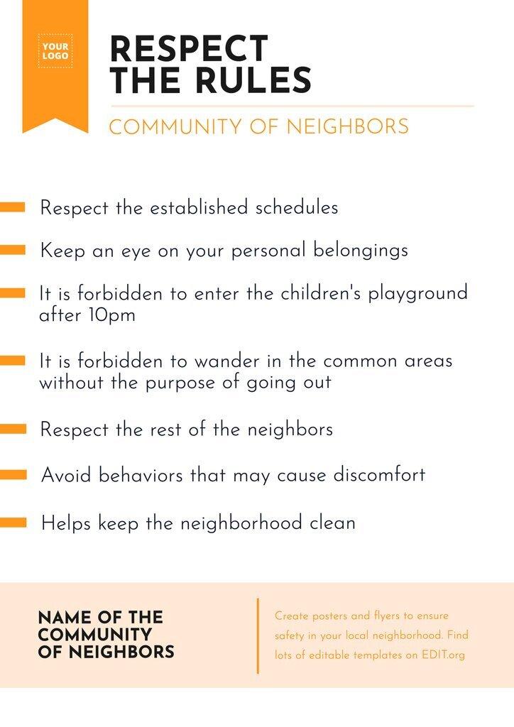 Neighborhood online editable poster template for free