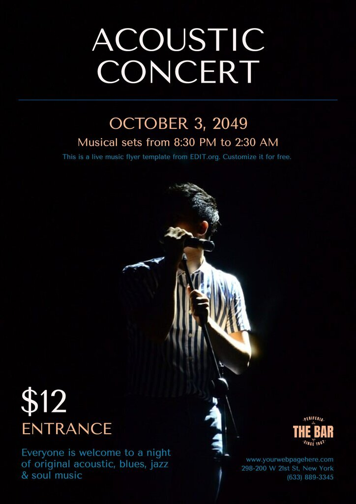 Editable live music poster templates free