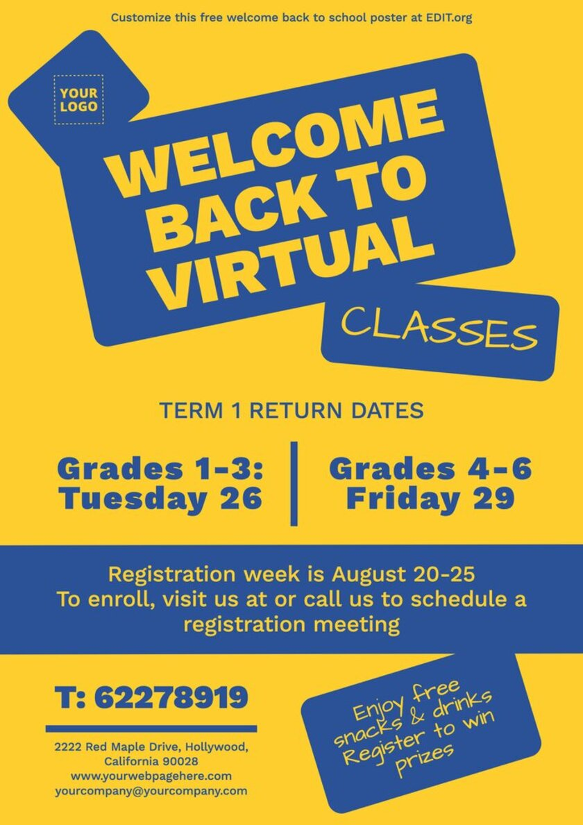 Free welcome to class poster templates