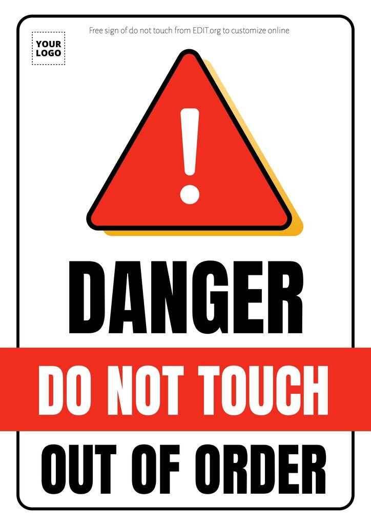 Free do not touch sign board