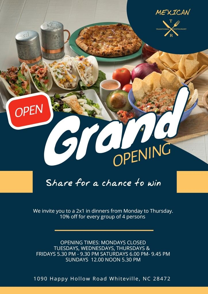 grand opening templates
