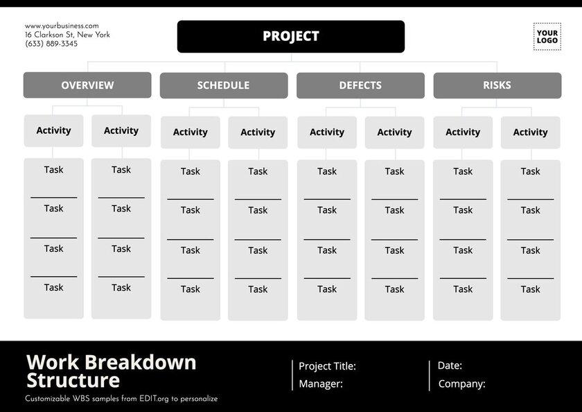 Work breakdown structure free download
