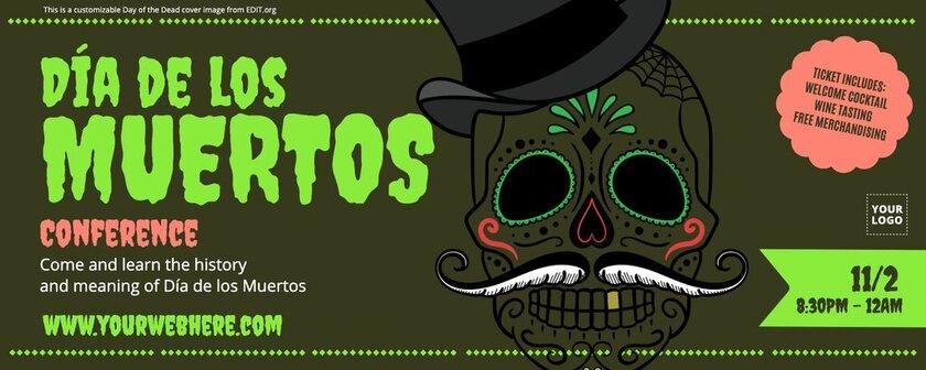 Editable cover image for Dia de los Muertos