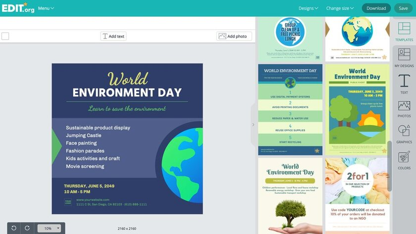 Graphic designs to promote world environment day
