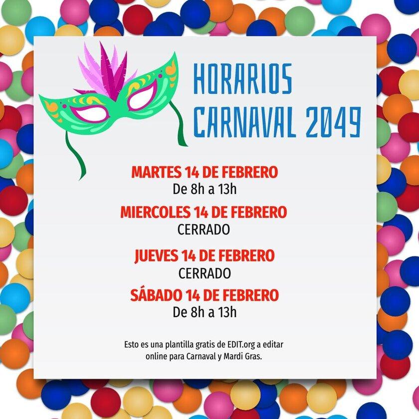 Carteles de carnaval originales para tiendas y empresas
