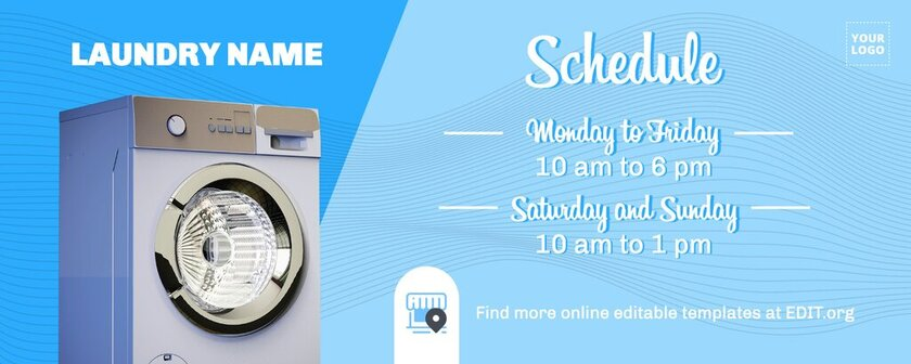Schedule template for laundries