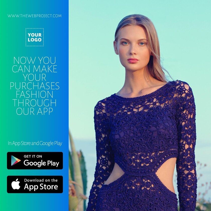 Fashion app download promotion template
