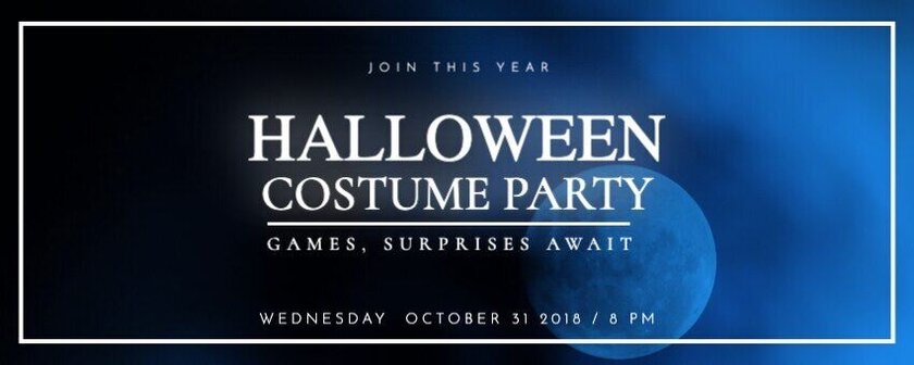 Halloween costume party banner horizontal template to edit